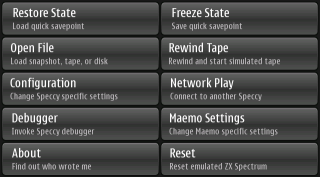 Nokia N900 Speccy emulator Settings